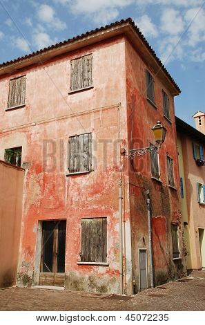 Derelict Red Building In Caorle