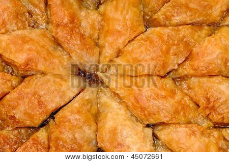 Homemade baklava - Turkish filo sweet pastry