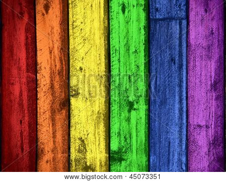 Rainbow Colors Wood Background