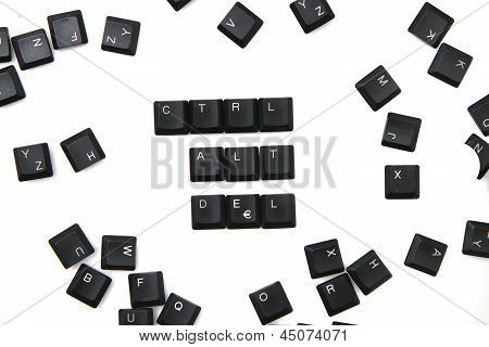 Keyboard Keys - Ctrl, Alt, Del