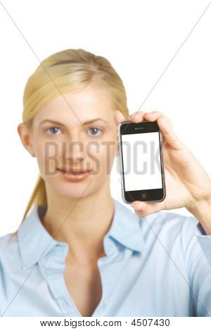Business Woman Blank Cell