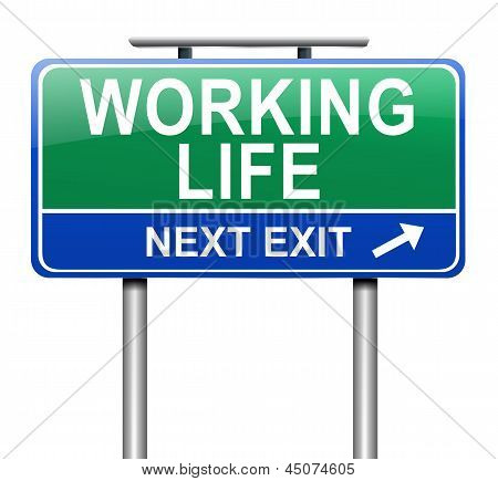 Working Life Concept.