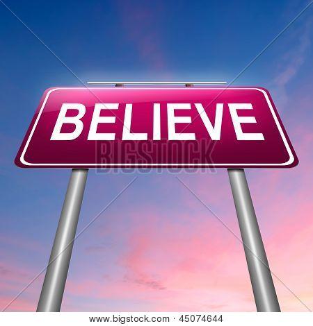 Believe Concept.