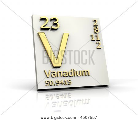 Vanadium Form Periodic Table Of Elements