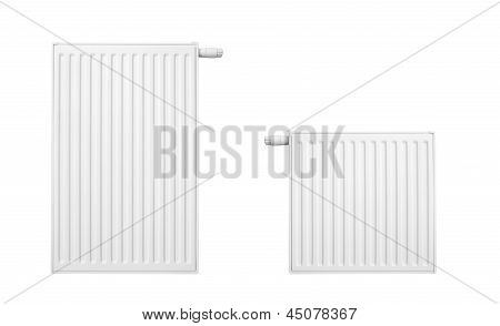 Radiator Set Isolated Over A White Background