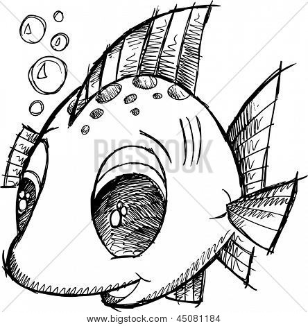 Cute Fish Drawings Cute Fish Sketch Cute Fish