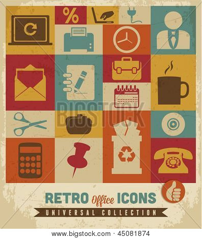 Office icons set.Vector