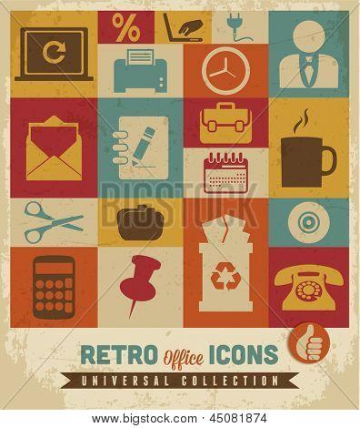 Conjunto de iconos de oficina.Vector
