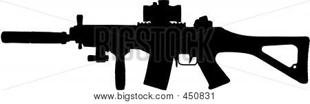 Military Assault Rifle Illustration