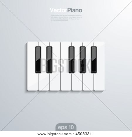 Piano keys vector creative design concept. Octave.