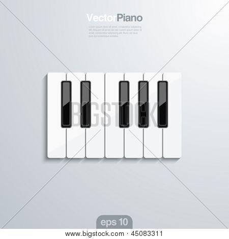 Piano keys vector creative design concept. Octave.