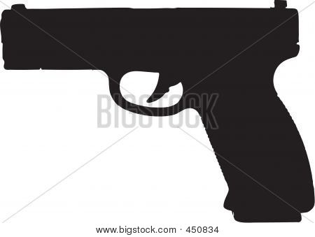 9mm Semi-automatic Gun Illustration