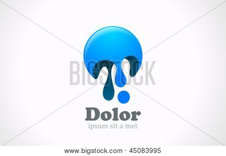 Paint blob abstract logo template. Creative fun concept icon.  Use for gaming, funny, entertainment. Vector. Editable.