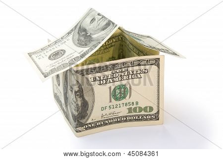 House Made Of Us Dollars With Clipping Path