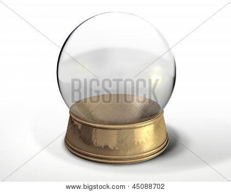 Snow Globe Crystal Ball Isolated