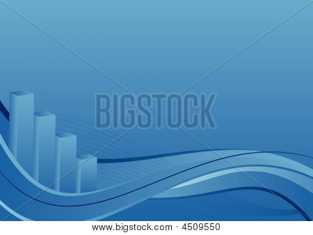 Business Background - Bar Chart With Waves