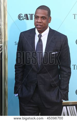 "NEW YORK-NOV 18: Singer and producer Shawn ""Jay-Z"" Carter attends the premiere of ""The Great Gatsby"" at Avery Fisher Hall on May 1, 2013 in New York City."