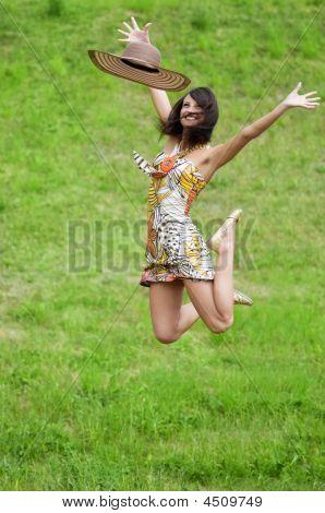 Jumping On Grass