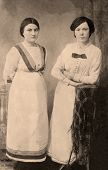 pic of edwardian  - Vintage photograph from Edwardian era of two girls - JPG