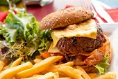 image of hamburger-steak  - Cheese burger  - JPG