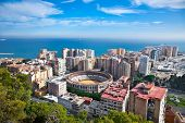 foto of arena  - Malaga city panoramic view - JPG