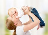 stock photo of baby toddler  - happy family - JPG