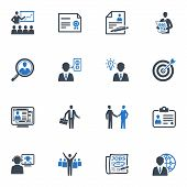 pic of line graph  - Set of 16 employment and business icons - JPG