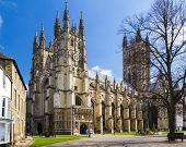 foto of church-of-england  - The grand Goth Style Canterbury Cathedral Kent England UK - JPG