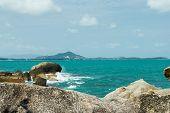 picture of sea-scape  - Cloud scape and sea scape view at samui - JPG