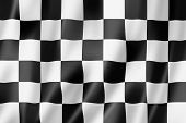 Auto Racing Finish Zielflagge