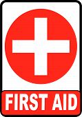 stock photo of first aid  - First Aid symbol isolated on white background - JPG