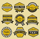 pic of cabs  - Taxi cab set insignia - JPG