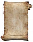 Manuscript, Rough Roll Of Parchment