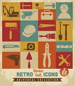 foto of putty  - Worker tools icons set - JPG