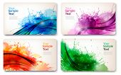 stock photo of colore  - Collection of colorful abstract watercolor cards - JPG