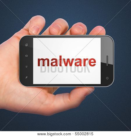 Security concept: Malware on smartphone