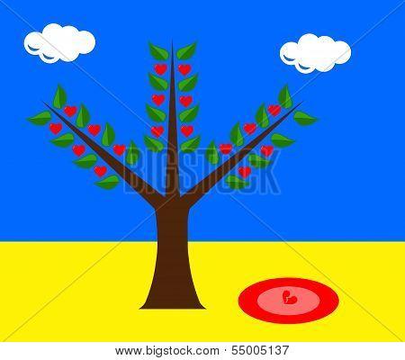 Tree With Broken Heart