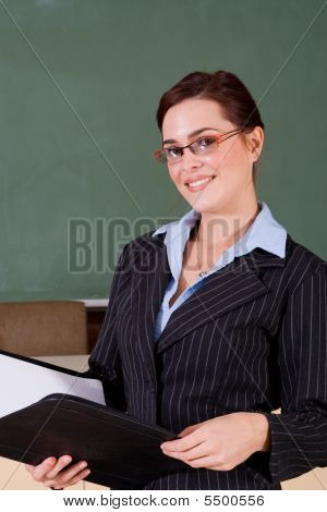 Confident Young Teacher