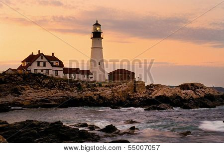Portland Head Lighthouse at Sunset