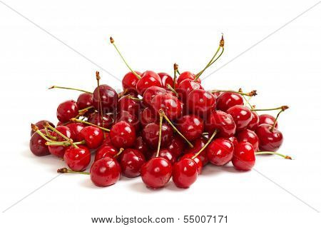 Heap of sweet cherries