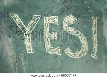 Yes-written with chalk