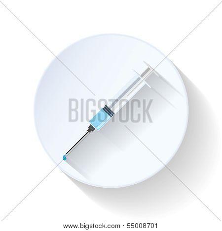Hypodermic flat icon