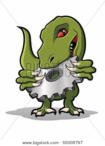 Raptor Cog Cartoon
