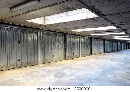 Row Of Internal Garages Or Lock-ups