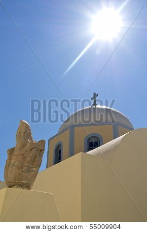 Church in Thira.