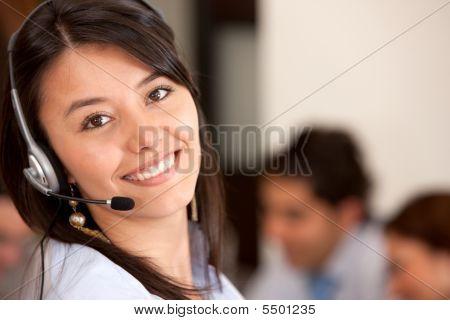Operador de soporte al cliente