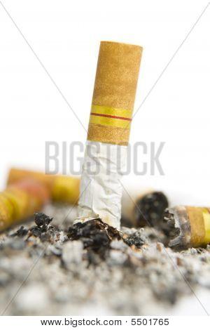 Turned Off Cigarette On Ashtray