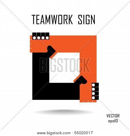 Handshake Abstract Logo Vector Design Template. Business Creative Concept.