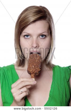 Girl Enjoying Ice Cream