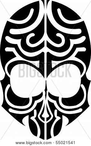 Indian skull tribal for tattoo